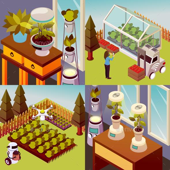 Robotised Farmstead Design Concept - Business Conceptual