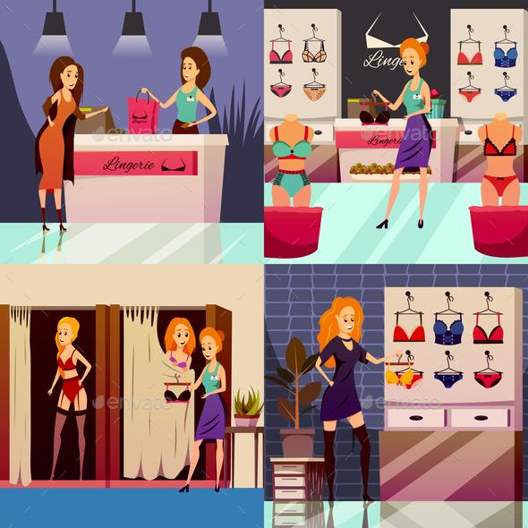 Lingerie Shop Design Concept - Business Conceptual