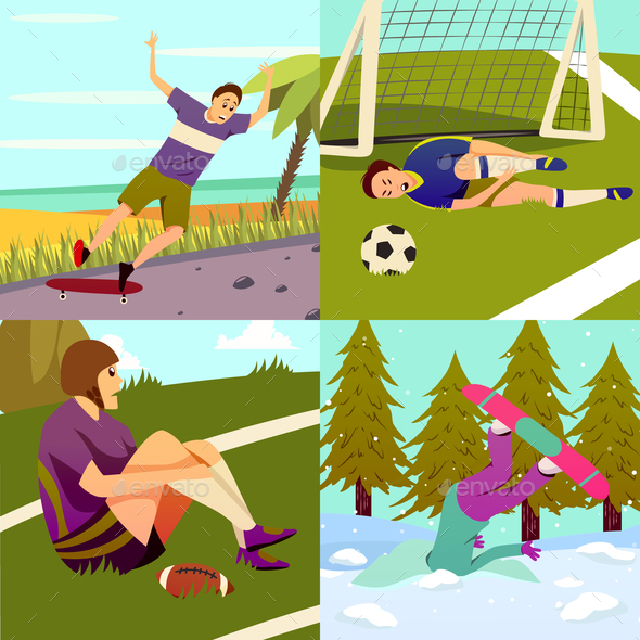 Sport Injuries Design Concept - Sports/Activity Conceptual