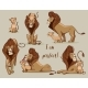 Set with Lions - GraphicRiver Item for Sale