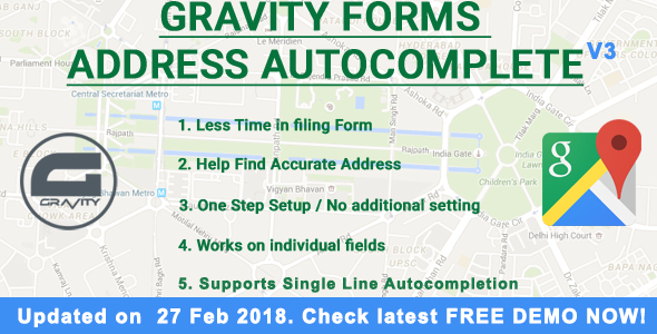 Gravity Forms Address Autocomplete - CodeCanyon Item for Sale