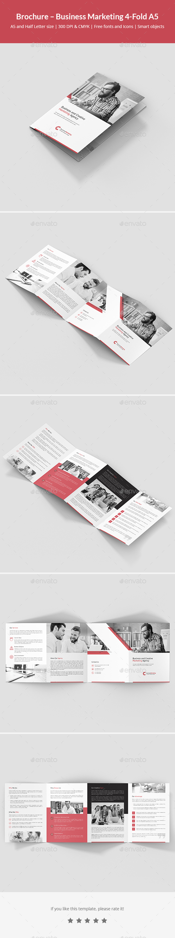 Brochure – Business Marketing 4-Fold A5 - Corporate Brochures