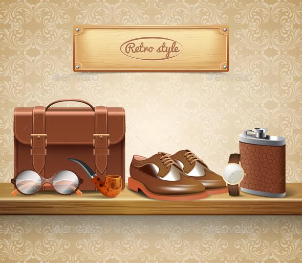 Gentleman Accessories Realistic - Business Conceptual