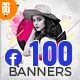 100 - Facebook Multipurpose Banners - GraphicRiver Item for Sale