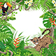 Tropical Frame with Plants and Animals - GraphicRiver Item for Sale