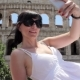 Young Tourist Makes Selfie on Ancient City with Mobile - VideoHive Item for Sale