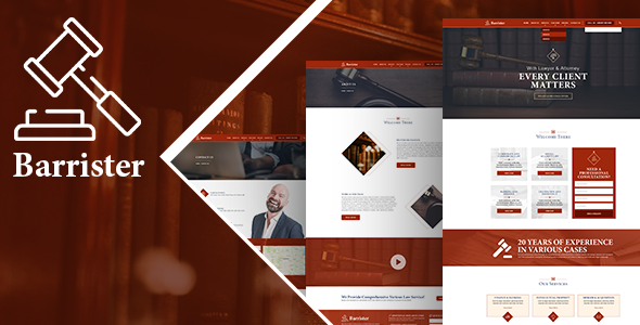 Image of Barrister - Lawyer Attorney HTML Template