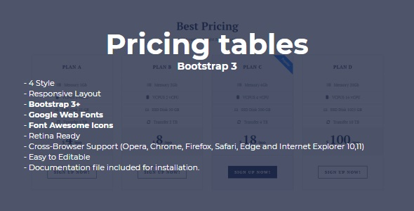 SLD Pricing Tables - CodeCanyon Item for Sale
