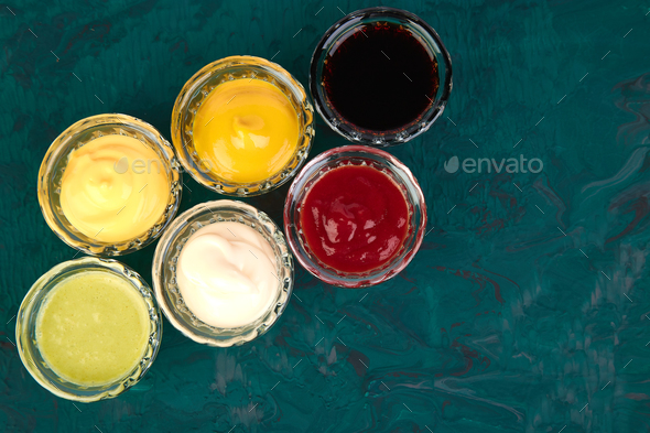 Set of different sauces. - Stock Photo - Images