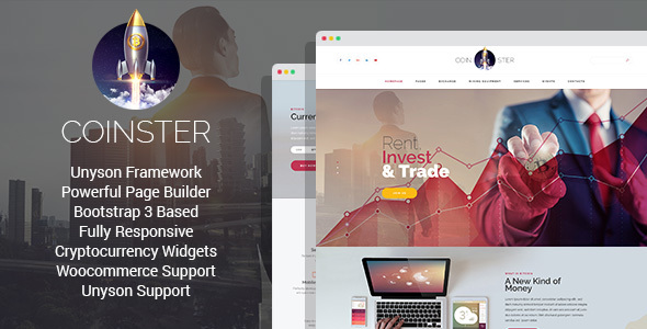 Coinster - Mining and Cryptocurrency Exchange WordPress Theme