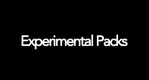 Experimental Packs