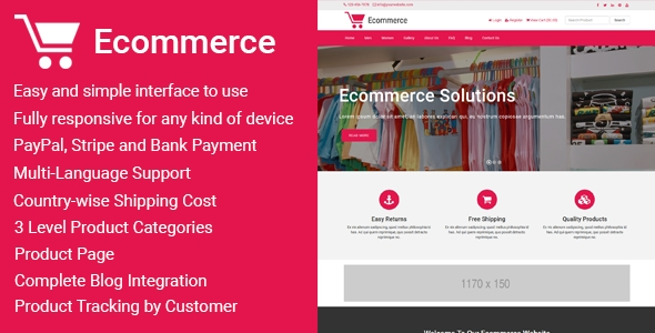 Ecommerce - Responsive Ecommerce Business Management Script - CodeCanyon Item for Sale