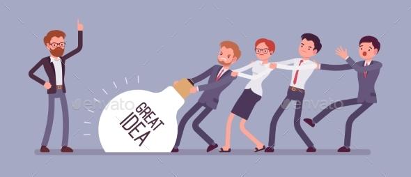 Team Uprising Great Idea - Business Conceptual