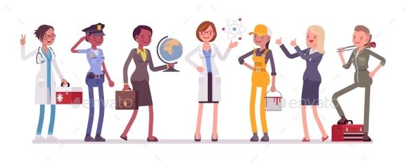 Women Professions Set - Business Conceptual