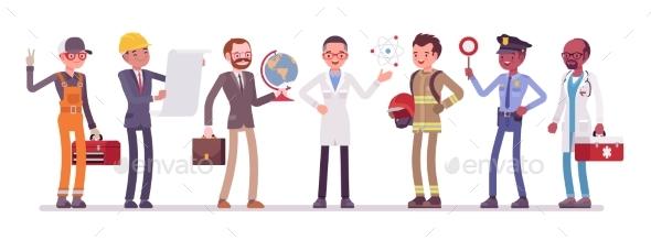 Men Professions Set - Business Conceptual