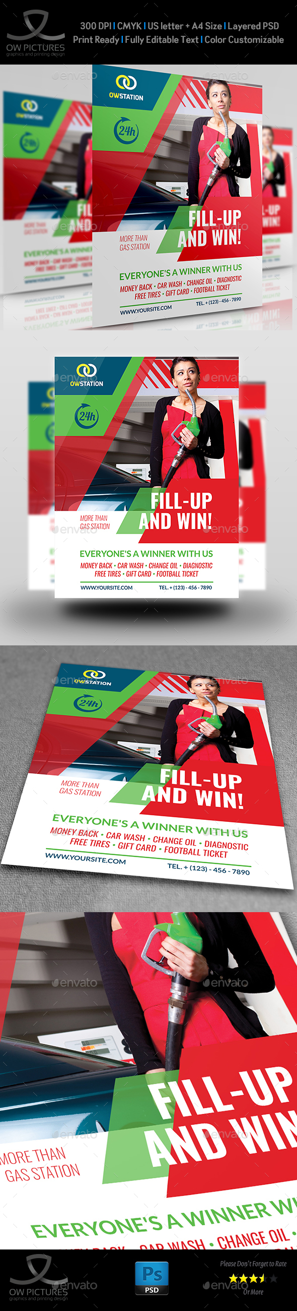 Gas Station Flyer Template Vol.3 - Commerce Flyers