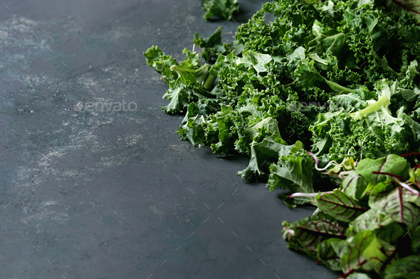 Green salad mix - Stock Photo - Images