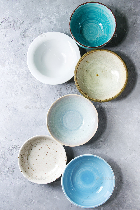 ceramic bowls collection - Stock Photo - Images