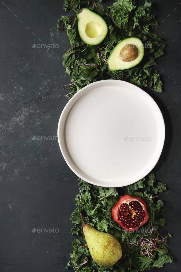 Green salad mix - Stock Photo - Images