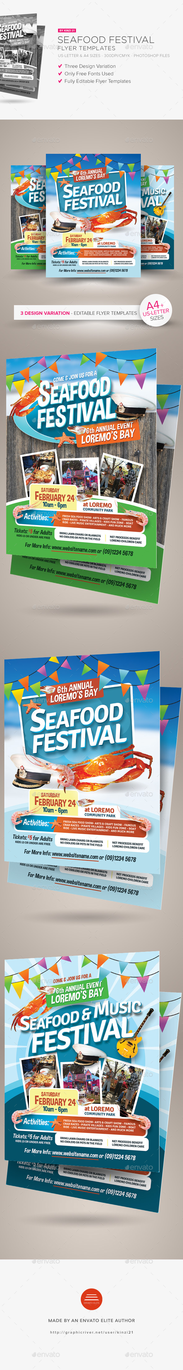 Seafood Festival Flyer Templates - Miscellaneous Events
