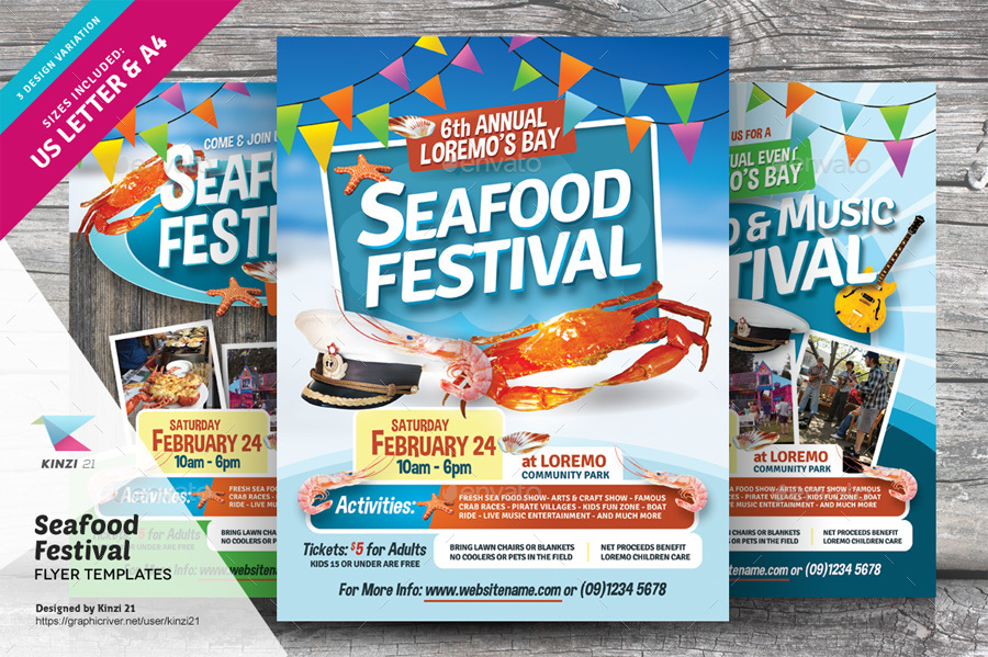 Seafood Festival Flyer Templates