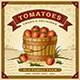 Retro Tomato Harvest Label With Landscape - GraphicRiver Item for Sale