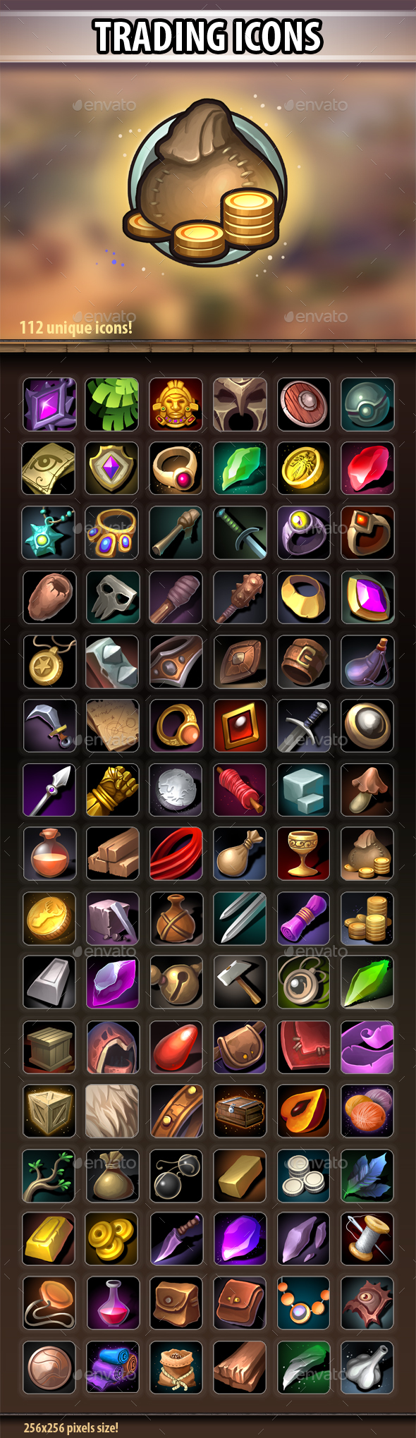 Trading Icons - Miscellaneous Game Assets