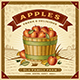 Retro Apple Harvest Label With Landscape - GraphicRiver Item for Sale