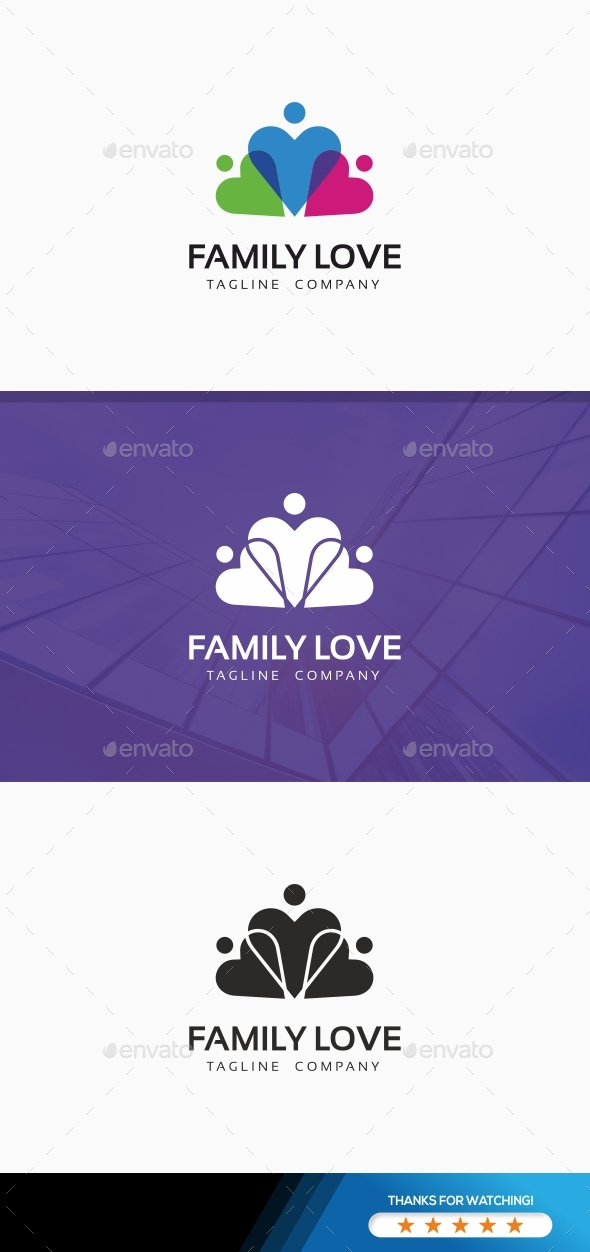 Family Love - Logo Templates