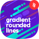 Gradient Rounded Lines Backgrounds - GraphicRiver Item for Sale