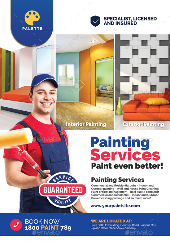 Paint Company Promotional Flyer