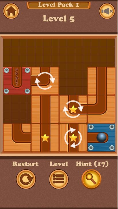 Unblock The Ball Sliding Puzzle