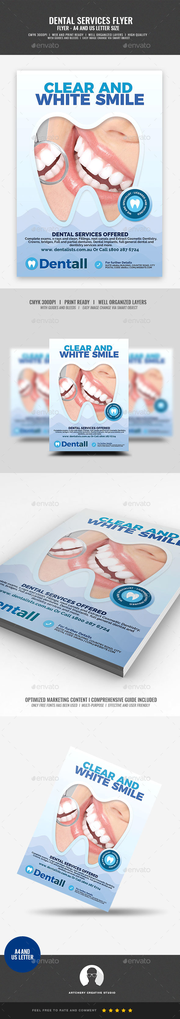 Dentistry Clinic Flyer - Commerce Flyers
