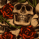 Set of Seamless Pattern with Skulls