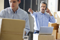 Manager Using Headset In Distribution Warehouse - PhotoDune Item for Sale