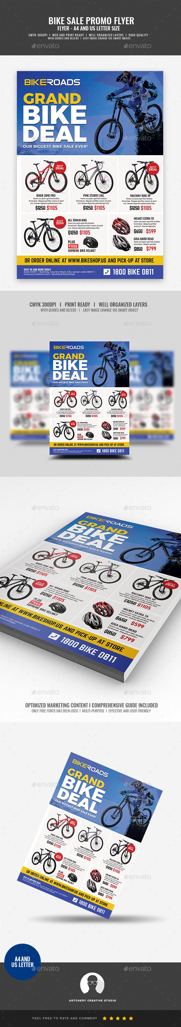 Bicycle Sale Promo Flyer - Corporate Flyers