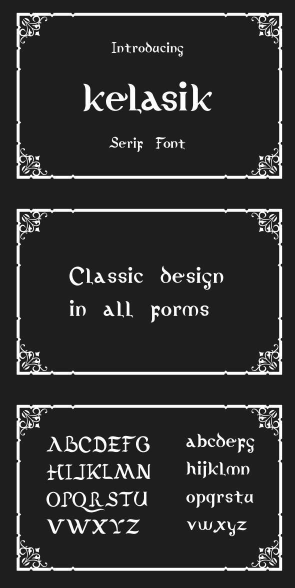 Kelasik Font - Script Fonts