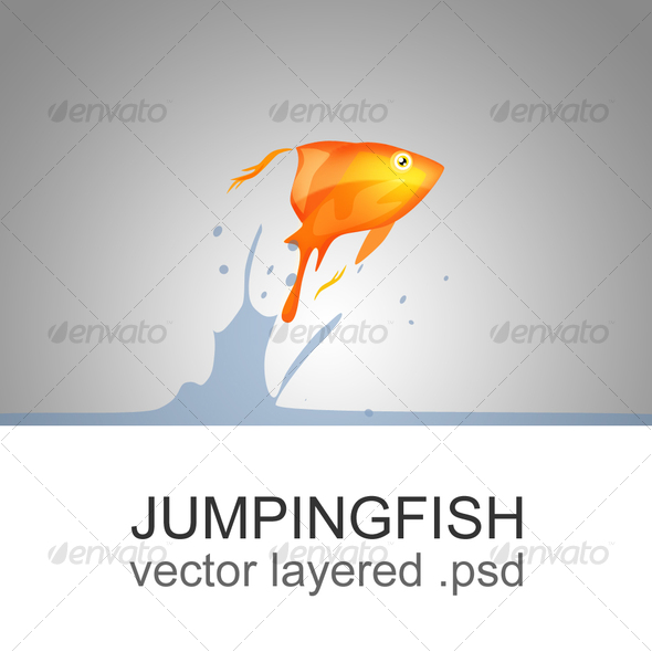 The jumping fish - Animals Illustrations