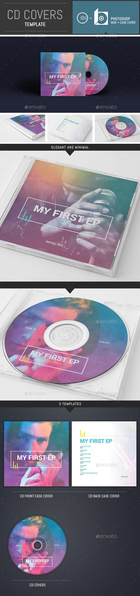 DJ / Musician / Band CD Cover Template - CD & DVD Artwork Print Templates