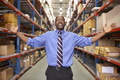 Portrait Of Businessman In Warehouse - PhotoDune Item for Sale