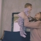 Girl Reaches Her Hands To Mother's Face While She Raises Her Up - VideoHive Item for Sale