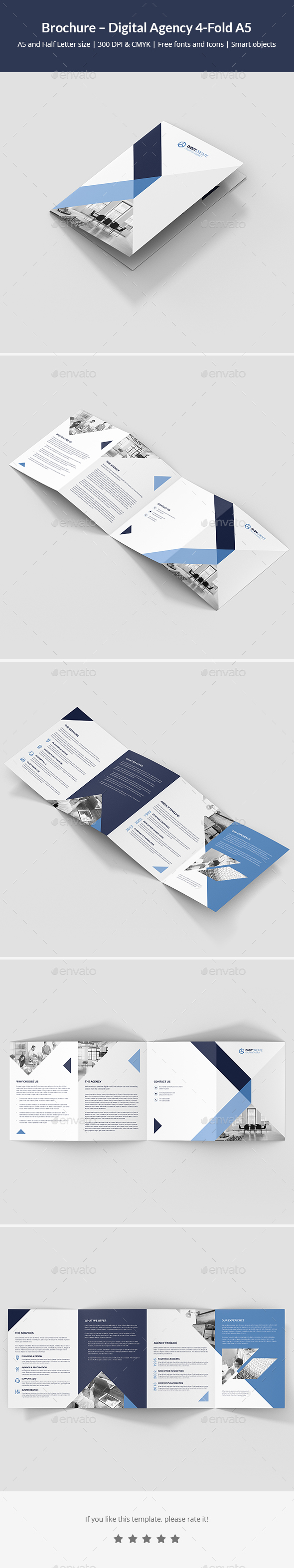 Brochure – Digital Agency 4-Fold A5 - Corporate Brochures