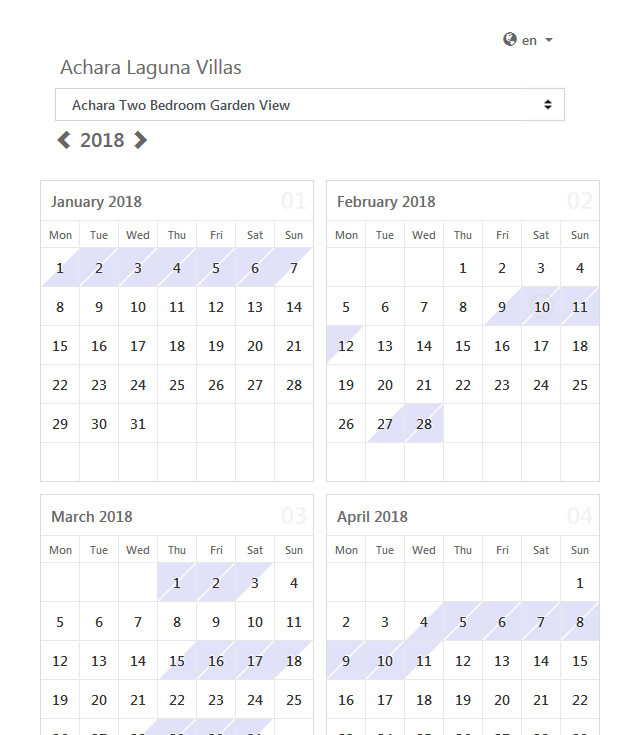 rental calendar template