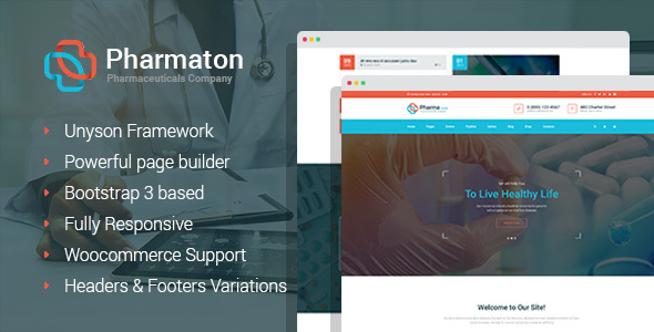 Pharmaton - Medical and Pharmacy WordPress Theme - Business Corporate