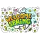 Welcome Spring Word Bubble - GraphicRiver Item for Sale