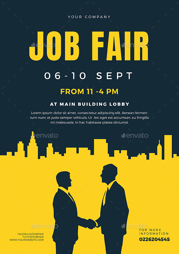 Job fair flyer template 02 by vectorvactory graphicriver preview image setjob fair 01g maxwellsz