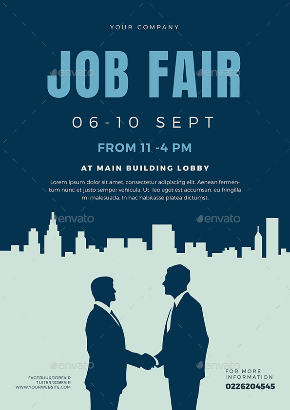 Job Fair Flyer Template 02 By Vectorvactory Graphicriver