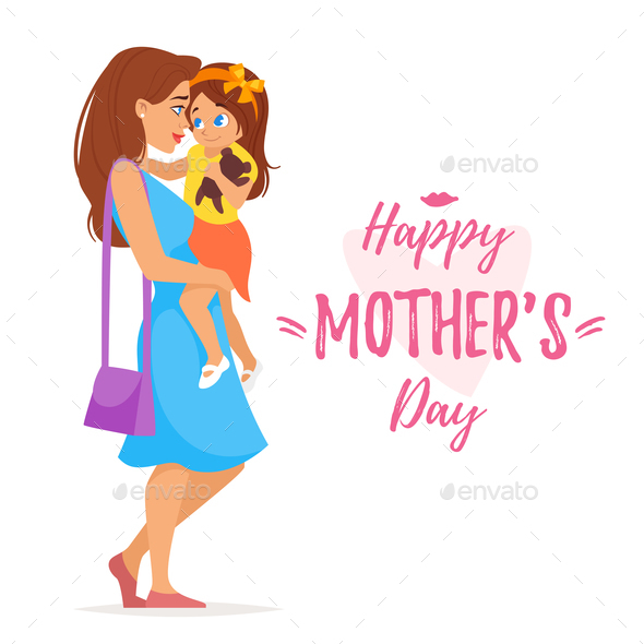 Mother's Day Greeting - People Characters