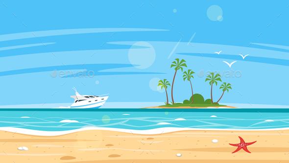 Background of Sea Shore - Landscapes Nature