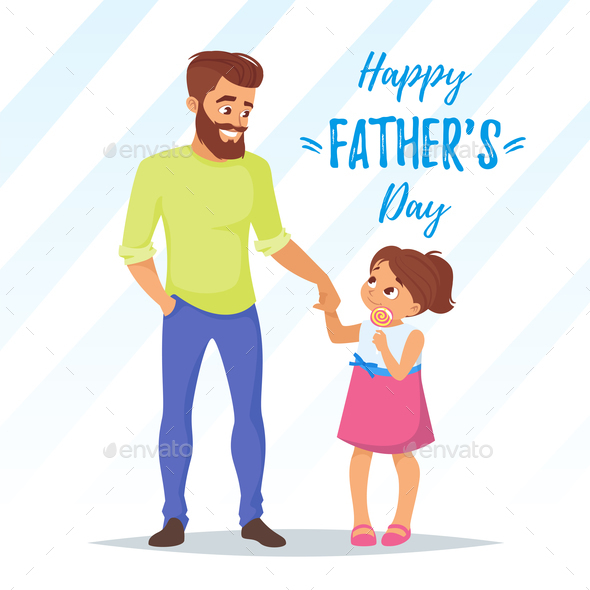 Fathers Day Greeting - People Characters